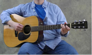 Holding the Guitar - Sitting Position - Casual Right Leg - Acoustic