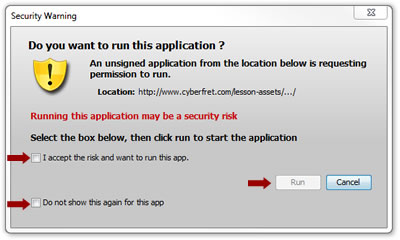 Java Security Warning
