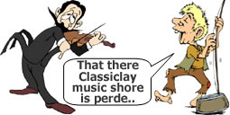 Classical Guitar Lessons Cartoon
