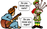 World Guitar Lessons Cartoon