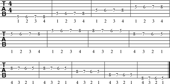Guitar Finger Exercise - 3