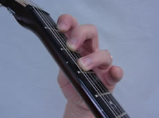 Guitar Chord Hand Position Tip - Fingers Note Angled