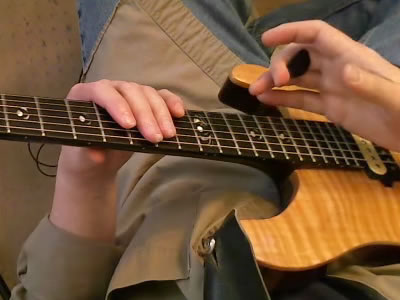 Two Handed Tapping - Pick Tucked in 2nd Finger - 1