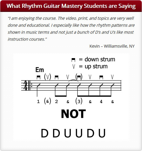 What Rhythm Guitar Mastery Students are Saying