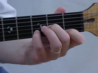 Dm Guitar Chord - 4th Finger - Front