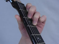 Dm Guitar Chord - 3rd Finger - Top