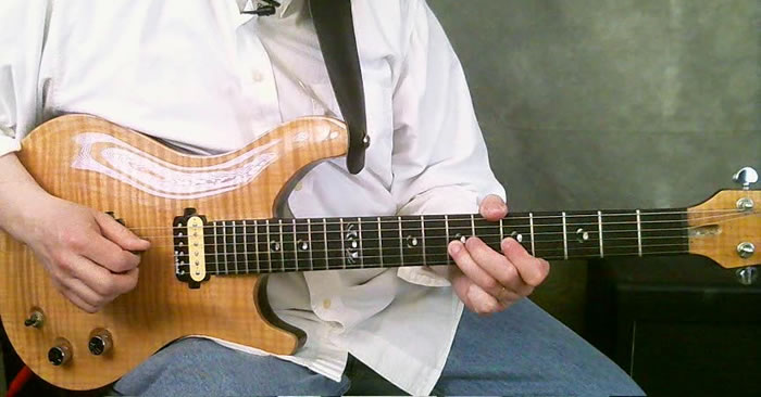 Double Pull-off Am Fusion Guitar Lick
