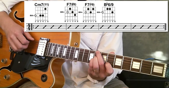 Jazz Guitar Chords in II V Chord Progressions