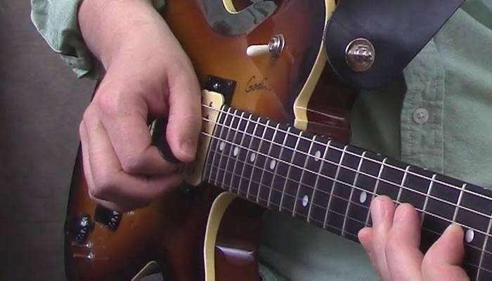 Pinch Harmonic - Side of Thumb