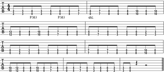 Dropped-D Rhythm Guitar Patterns | Cyberfret.com
