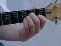 Am Basic Guitar Chord Picture - Front