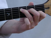 C Basic Guitar Chord Picture - Front