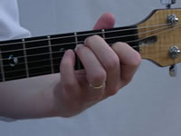E Basic Guitar Chord Picture - Front