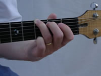 G Basic Guitar Chord Picture - Front