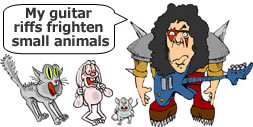 Metal Guitar Lessons Cartoon