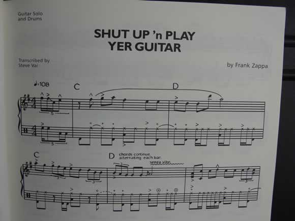 The Frank Zappa Guitar Book - Shut Up 'n Play Yer Guitar