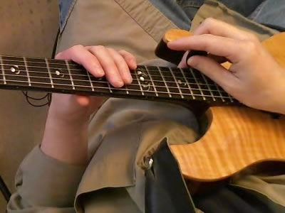 Two Handed Tapping - 2nd Finger Holding Pick