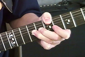Rock/Blues Lead Guitar Hand Position - Front
