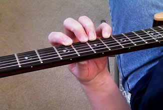 Traditional Classical Left Hand Guitar Position - Above