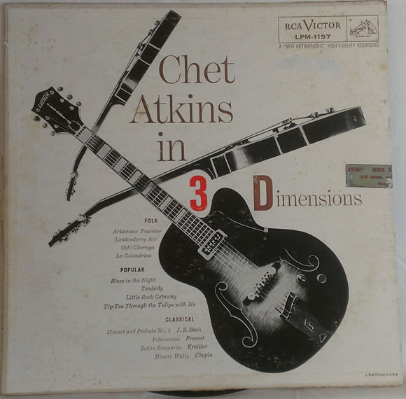 Chet Atkins in 3 Dimensions Record Cover