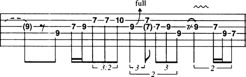 Jimi Hendrix Guitar Phrasing Tablature