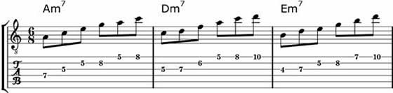 Minor 7 Blues Arpeggios