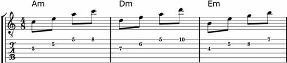Minor Blues Arpeggios