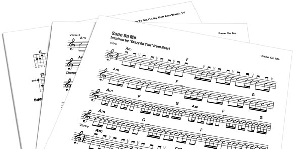 Sheet Music Printout Pages