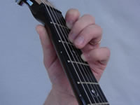 Dm Guitar Chord - 4th Finger - Top