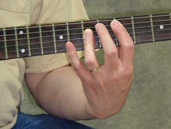 Major Barre Chord Root 5th String - Picture