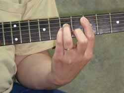 Minor Barre Chord Root 5th String - Picture