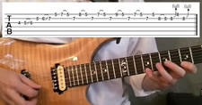 Rock Blues Guitar Lick in A